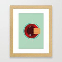 A Transistor Framed Art Print