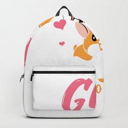 A Girl who Loves Hamster Backpack
