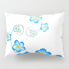blue forget me not watercolor 2017 Pillow Sham