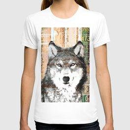 Industrial Woodland Wolf T-shirt