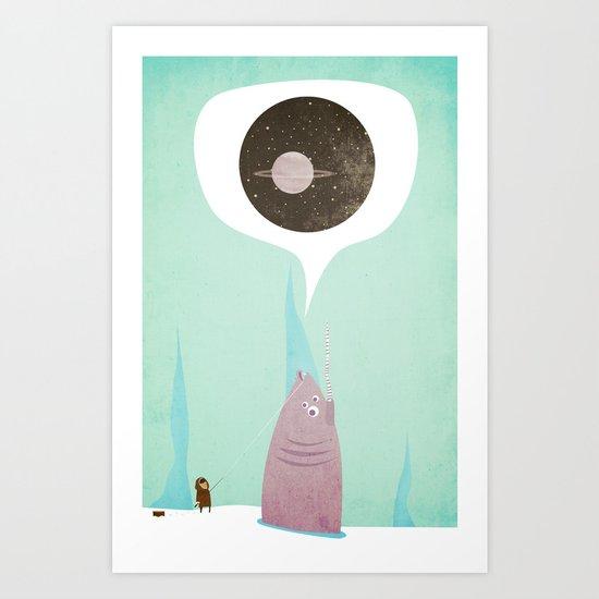 Tall Tales of a Big Fish Art Print