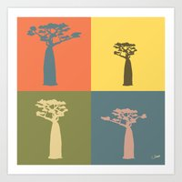 Baobab Safari Art Print