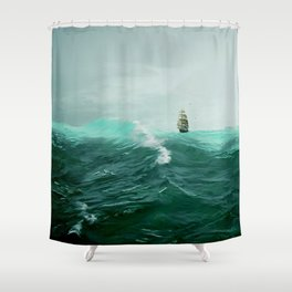 Perilous Green Shower Curtain