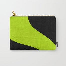 Simple Waves - Lime Green Carry-All Pouch