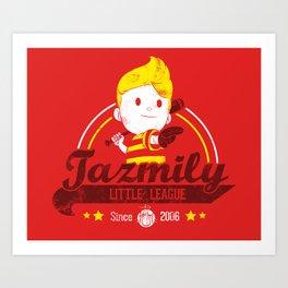 Tazmily little league Art Print