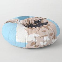 Milo in blue Floor Pillow