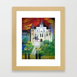 New Orleans St. Louis Cathedral Framed Art Print
