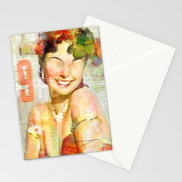 The girl of the 9th floor Stationery Cards