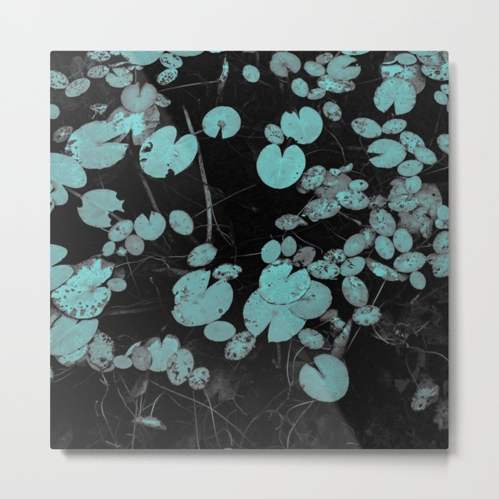 Lilypads in blue Metal Print