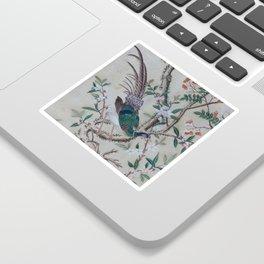 Antique Chinoiserie with Bird Sticker