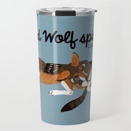 Red Wolf Spirit #1 Travel Mug