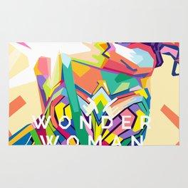 wonderwoman Pop art Rug