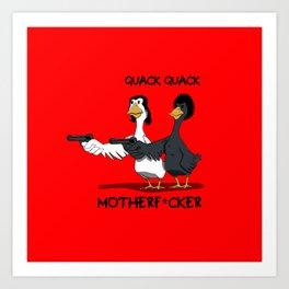 Duck Pulp Fiction Art Print