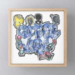 Cultural Value Framed Mini Art Print