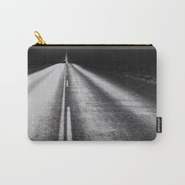 From Here to Eternity; the Road up Ahead of You black and white photography - photographs Carry-All Pouch