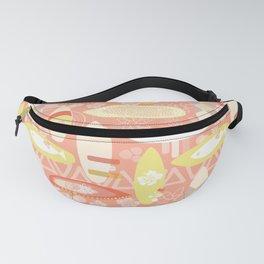 Surfboards Orange White Yellow Fanny Pack
