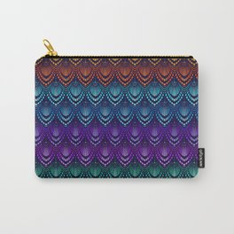 Variations on a Feather I - Deco Style Carry-All Pouch