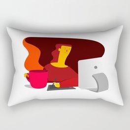 Working illustration Rectangular Pillow