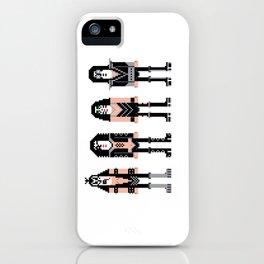 Pixel Kiss Rock Band iPhone Case