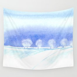 Winter Scene Wall Tapestry