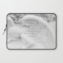 Guardian Angel Prayer | White Angel | Religious Art | Baptism | First Communion Laptop Sleeve