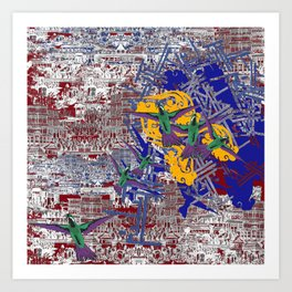 Chinese Explosion Art Print