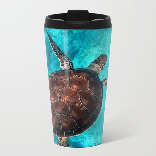 Turtle Metal Travel Mug