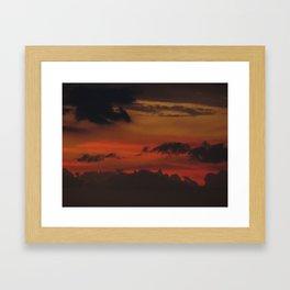 A Sky On Fire - 2 Framed Art Print