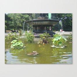 NYC Central park Bethesda fountain Canvas Print