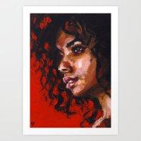 Urban Rouge Art Print
