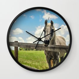 Horse Sanctuary for Abused and Neglected Horses Wall Clock