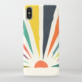 Rainbow ray iPhone Case