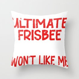 Frisbee Discus Gift Flying Disc Sport Throw Pillow