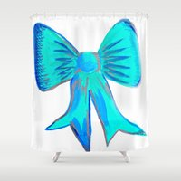 bows Shower Curtains featuring Bows by Samaa Ahmed