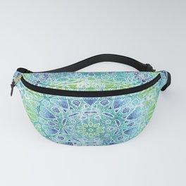 Blue Greenery Tie-Dye Mandala Fanny Pack