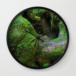 Redwood Moss Wall Clock