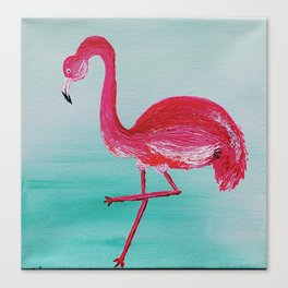 Frank the Flamingo Canvas Print