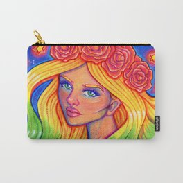 Rainbow Goddess Carry-All Pouch