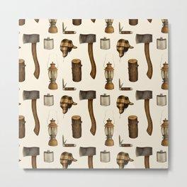Woodsman Pattern Metal Print