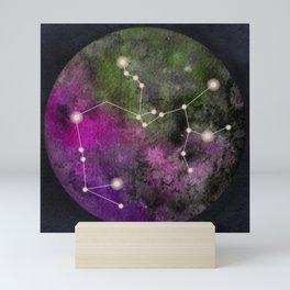 Watercolor Zodiac Sagitarius Galaxy Mini Art Print