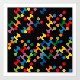 DOTS - polka 2 Art Print