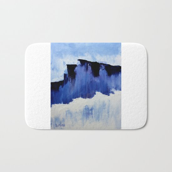 Cold Blue Bath Mat