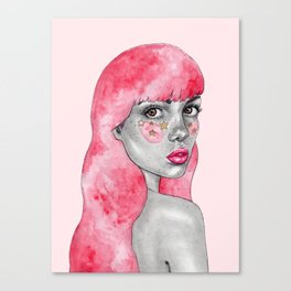Pink haired stargirl Canvas Print