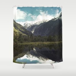 Franz Josef Glacier Where The Snow Melts Shower Curtain