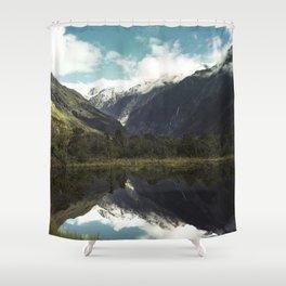 (Franz Josef Glacier) Where the snow melts Shower Curtain