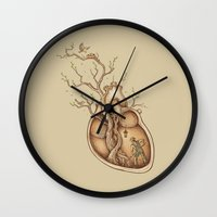 tree Wall Clocks featuring Tree of Life by Enkel Dika