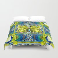 baroque Duvet Covers featuring Rock Baroque by FakeFred