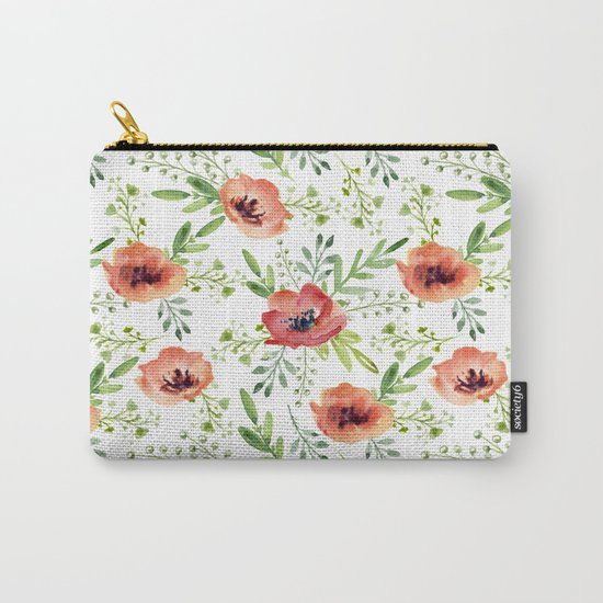Red bouquet. Watercolor pattern Carry-All Pouch
