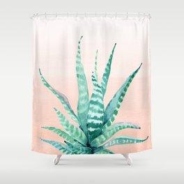 Desert Succulent Aloe Vera Shower Curtain