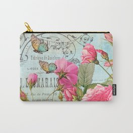 Vintage Flowers #3 Carry-All Pouch